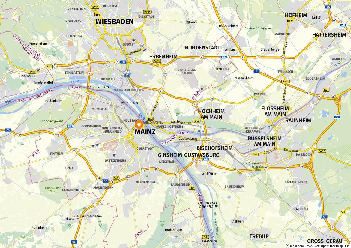 Ankunftsplan Frankfurt